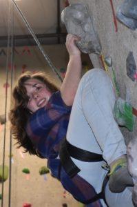 Julianne Climbing